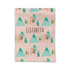 Llama Luggage Pattern Blanket