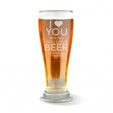 Love You Premium Beer Glass