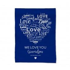 Love You Grandpa Blanket