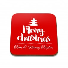 Merry Christmas Square Coaster
