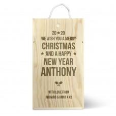 Merry Christmas Double Wine Box