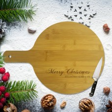 Merry Christmas Round Bamboo Paddle Board