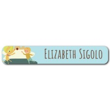 My Adventure - Playing Ball Girl Mini Name Label