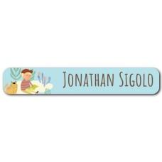 My Adventure - Reading Boy Mini Name Label
