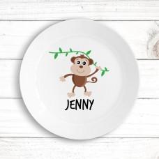 Monkey Kids' Plate
