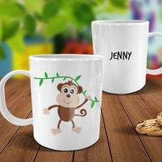 Monkey White Plastic Mug