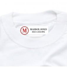Monogram Iron On Clothing Label