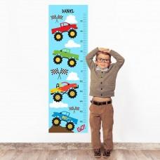Monster Truck Wall Decal Height Chart