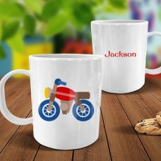 Motorbike White Plastic Mug