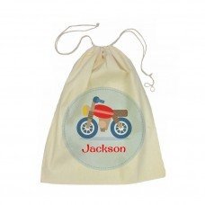 Motorbike Drawstring Library Bag