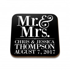 Mr & Mrs Square Coaster