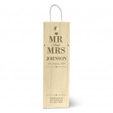 Mr & Mrs Single Wine Box