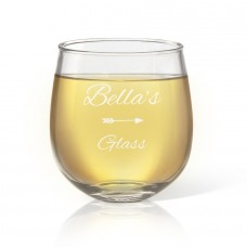 Name Engraved Stemless Wine Glass
