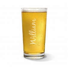 Name Vertical Pint Glass