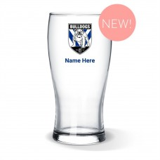 NRL Bulldogs Standard Beer Glass