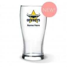NRL Cowboys Standard Beer Glass