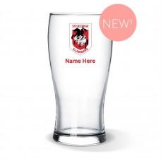 NRL Dragons Standard Beer Glass