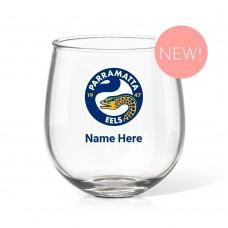 NRL Eels Stemless Wine Glass