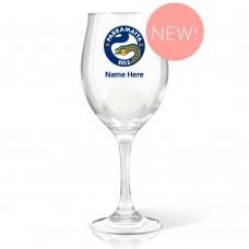 NRL Eels Wine Glass