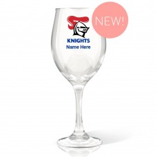 NRL Knights Wine Glass