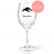 NRL Panthers Wine Glass