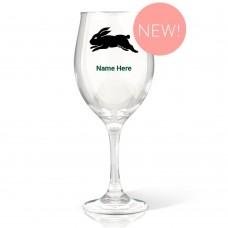 NRL Rabbitohs Wine Glass