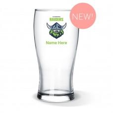 NRL Raiders Standard Beer Glass