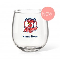 NRL Roosters Stemless Wine Glass