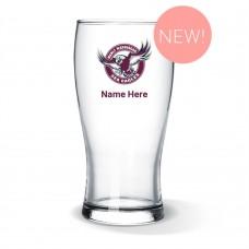 NRL Sea Eagles Standard Beer Glass
