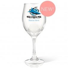 NRL Sharks Wine Glass