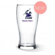 NRL Storm Standard Beer Glass