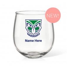 NRL Warriors Stemless Wine Glass