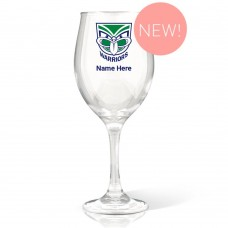 NRL Warriors Wine Glass