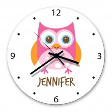 Owl Glass Wall Clock