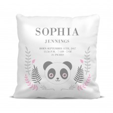 Panda Birth Cushion Cover