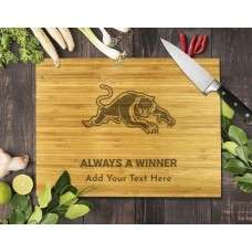 NRL Panthers Bamboo Cutting Board