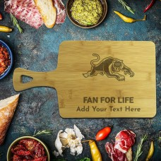 NRL Panthers Rectangle Bamboo Serving Board