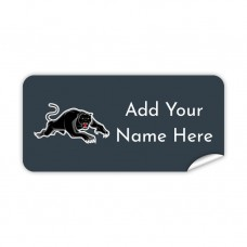 NRL Panthers Rectangle Name Label