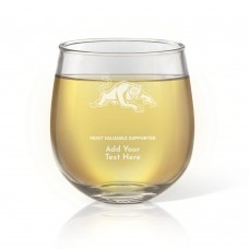 NRL Panthers Stemless Wine Glass