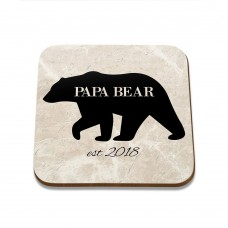 Papa Bear Square Coaster
