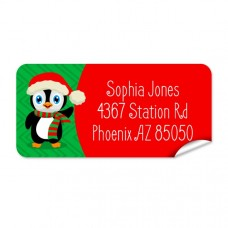 Penguin Return Address Label