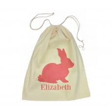 Pink Bunny Drawstring Bag