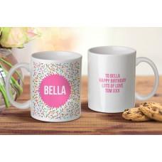 Pink Confetti Mug
