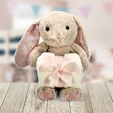 Embroidered Pink Rabbit