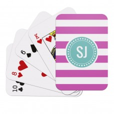 Pink Stripe Playing Cards