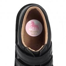 Pink Unicorn Shoe Dot Label