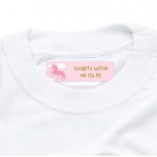 Pink Unicorn Iron On Clothing Label