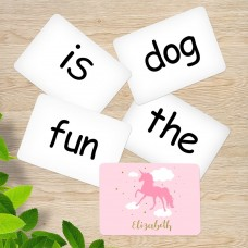 Pink Unicorn Sight Word Cards