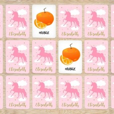Pink Unicorn Memory Cards