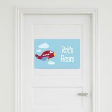 Plane Door Sign